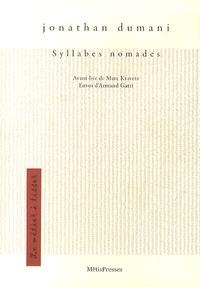 Jonathan Dumani - Syllabes nomades.