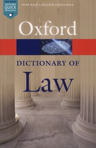 Jonathan Law - A Dictionary of Law.