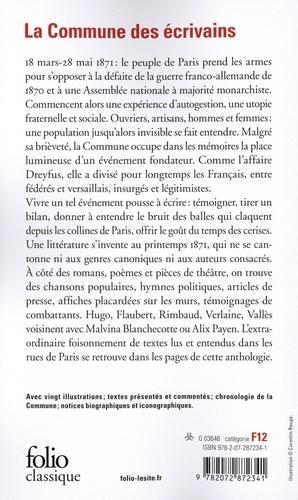La Commune des écrivains. Paris, 1871:vivre et écrire l'insurrection