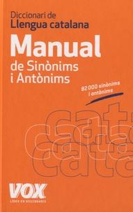 Jordi Indurain Pons - Diccionario manual de sinonims i antonims.