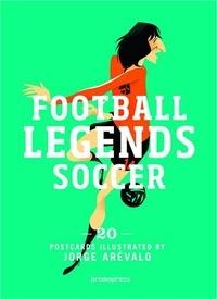Jorge Arévalo - Football Legends Soccer - 20 postcards illustrated.