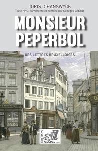 Joris Hanswyck - Monsieur Peperbol - théâtre.