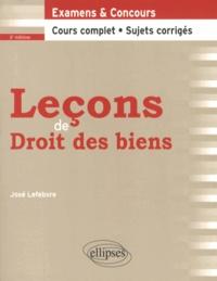 José Lefebvre - Leçons de droit des biens.