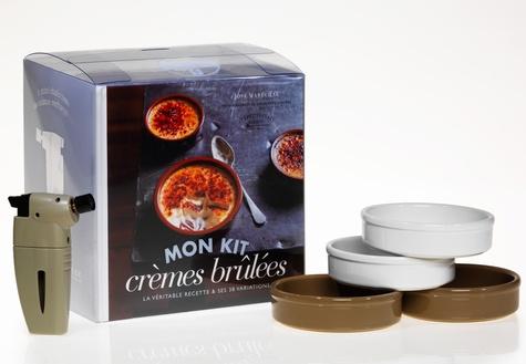 José Maréchal - Cook'in box : Mon kit crèmes brûlées - Un livre, un mini chalumeau de cuisine rechargeable et 4 ramequins.