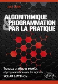 José Ouin - Algorithmique & programmation par la pratique - Travaux pratiques résolus et programmation avec les logiciels Scilab & Python.
