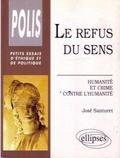 José Santuret - Le refus du sens - Humanité et crime contre l'humanité.