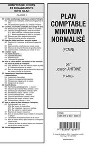Joseph Antoine - Plan comptable minimum normalisé (PCMN).
