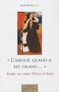L'amour quand il est grand...- Etudes sur sainte Thérèse d'Avila - Joseph Baudry |