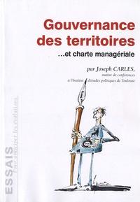 Joseph Carles - Gouvernance des territoires et charte managériale.