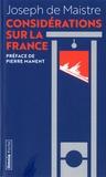 Joseph de Maistre - Considérations sur la France.