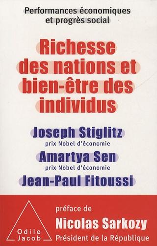 Richesse des nations et bien-être des individus. performances économiques et progrès social