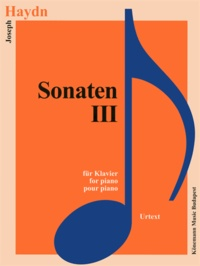 Joseph Haydn - Haydn - Sonate III pour piano - Partition.