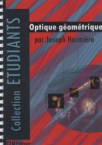 Joseph Hormière - Optique géométrique.