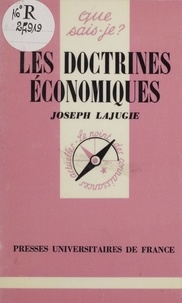 Joseph Lajugie - Les Doctrines économiques.