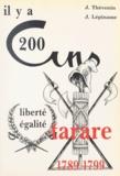 Joseph Lépinasse et Jean Thévenin - Il y a 200 ans Tarare : 1789-1799.
