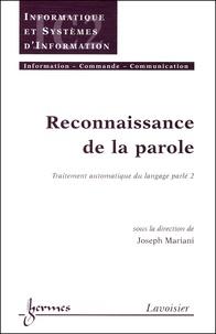 Accentsonline.fr Reconnaissance de la parole. Traitement automatique du langage parlé 2 Image