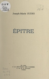 Joseph-Marie Eudes - Épître.