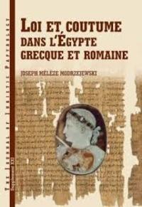 Corridashivernales.be Loi et coutume dans l'Egypte grecque et romaine Image