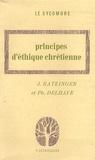 Joseph Ratzinger et Philippe Delhaye - Principes d'éthique chrétienne.