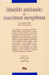 Joseph Rovan et Gilbert Krebs - Identités nationales et conscience européenne.