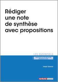 Joseph Salamon - Rédiger une note de synthèse avec propositions.