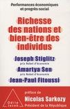 Joseph Stiglitz et Amartya Sen - Richesse des nations et bien-être des individus - performances économiques et progrès social.