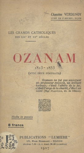 Ozanam, 1813-1853
