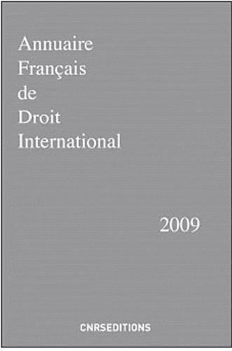 Joseph Verhoeven - Annuaire français de droit international - Tome 55.