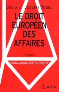Deedr.fr LE DROIT EUROPEEN DES AFFAIRES. 2ème édition Image