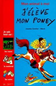 Josette Gontier et  Mérel - J'élève mon poney.