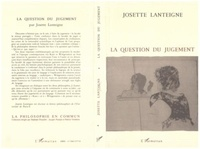 Josette Lanteigne - La question du jugement.