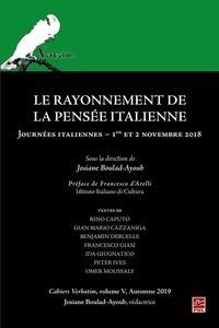 Josiane Boulad-Ayoub - Le rayonnement de la pensée Italienne - Cahiers Verbatim V.