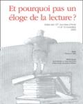 Josiane Cetlin - Et pourquoi pas un éloge de la lecture ? - Actes des 13e journées d'Arole 14 et 15 novembre 2003.