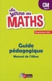 Josiane Hélayel et Catherine Fournié - Au rythme des maths CM cycle 3 - Guide pédagogique.