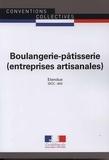 Journaux officiels - Boulangerie-pâtisserie (entreprises artisanales) - IDCC 843.