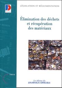 Rhonealpesinfo.fr Elimination des déchets et récupération des matériaux Image