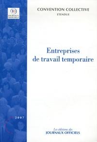 Journaux officiels - Entreprises de travail temporaire - Personnel intérimaire, Personnel permanent.