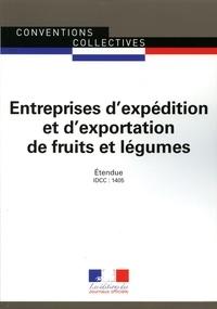 Journaux officiels - Expédition et exportation de fruits et légumes.