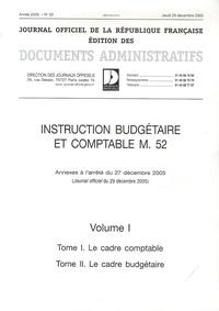 Deedr.fr Instruction budgétaire et comptable M52 - Pack 2 volumes Image