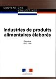 Journaux officiels - Produits alimentaires élaborés - IDCC 1396.
