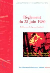 Accentsonline.fr REGLEMENT DE SECURITE DU 25 JUIN 1980. - Dispositions applicables aux établissements du 2ème groupe, 5ème catégorie, Sécurité contre l'incendie dans les établissements recevant du public Image