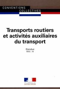 Journaux officiels - Transports routiers et activités auxiliaires du transport.