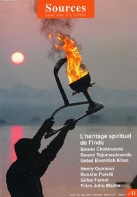 Henry Quinson et Rosette Poletti - Sources N° 11, Avril-mai-jui : L'héritage spirituel de l'Inde.