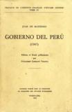 Juan de Matienzo - Gobierno del Perú (1567).