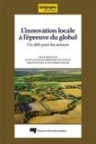 Juan-Luis Klein et Bernard Pecqueur - L'innovation locale à l'épreuve du global - Un défi pour les acteurs.