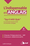 Judith Andreyev - L'indispensable en anglais.