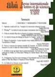 Jules Assoumou et Flora Amabiamina - Abá - revue internationale de lettres et de sciences sociales N° 5 : .