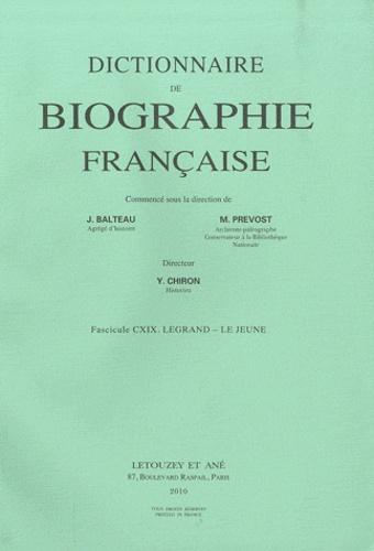 Jules Balteau - Dictionnaire de biographie française - Tome 20 Fascicule 119, Legrand-Le Jeune.