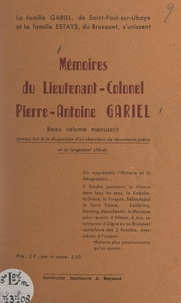 Jules Corriol - Mémoires du lieutenant-colonel Pierre-Antoine Gariel.