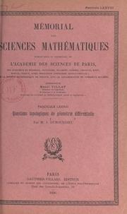Jules Dubourdieu et  Académie des sciences de Paris - Questions topologiques de géométrie différentielle.